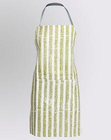 MARADADHI TEXTILES Stripe Apron  With Pocket Green
