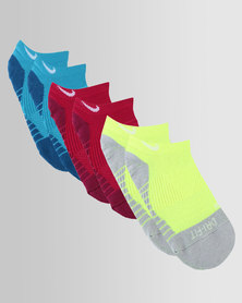 Nike Dry Cushion No-Show Socks 3 Pack Multi