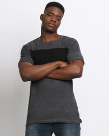 Deacon Outhall T-Shirt Black/Grey Marle