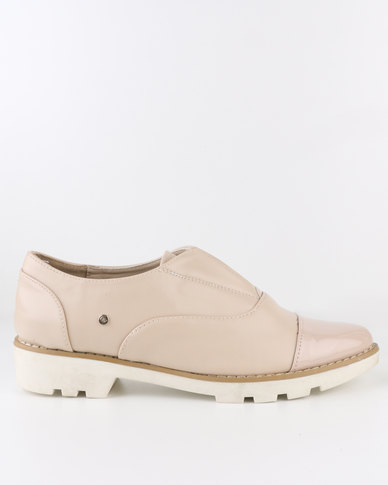 Dolce Vita Oxford Flat Slip On Shoe Nude  7c41ff3db70