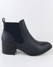 Dolce Vita Jeans Ankle Boots Navy