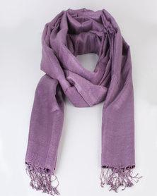Joy Collectables Large Plain Scarf Purple