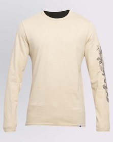 WWF Long Tattoo Sleeved Ladies T-Shirt Stone