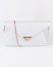 Blackcherry Bag Glam Clutch Bag Silver