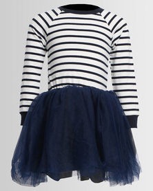 Bugsy Boo Striped Tulle Navy