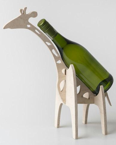 Native Decor Giraffe Wine Bottle Holder