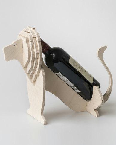 Native Decor Lion Wine Holder