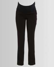 Cherry Melon Slim Leg Work Pants Black
