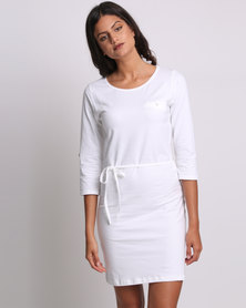Utopia Basic T-shirt Dress White