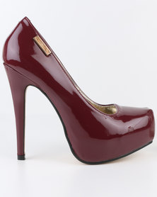 Sissy Boy Sexy Platform Stiletto Court Red