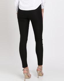 Blu Spiral High Waisted Stretch Pants Black
