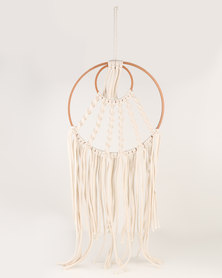 The Hand To Heart Collection Macrame Wall Hanging Modern Dreamcatcher Copper Twister
