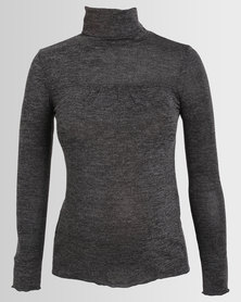 Annabella Maternity Polo Neck Charcoal