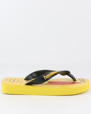 65c815ad17f0af Havaianas Kids Minion Flip Flops Yellow