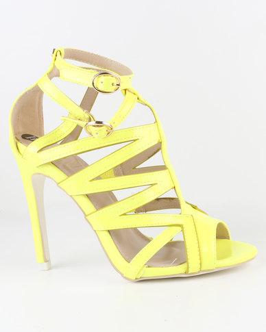 cd073e1838d Dolce Vita Prima Caged High Heel Yellow