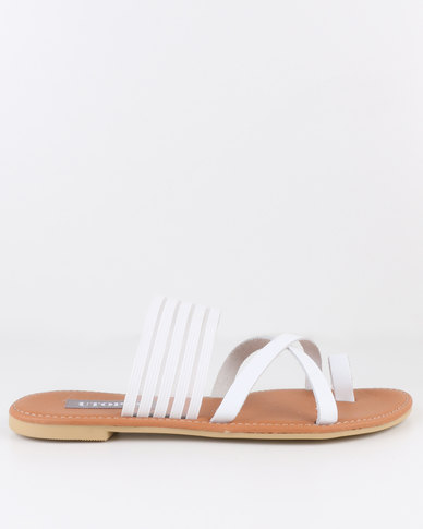 best seller online outlet 2014 unisex Utopia Utopia Leather & Elastic Sandal White buy cheap shop offer cheap sale visa payment wg7I5iO