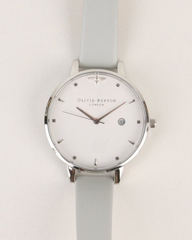 Olivia Burton Queen Bee Vegan Watch Grey   Silver-tone  41d54e579a