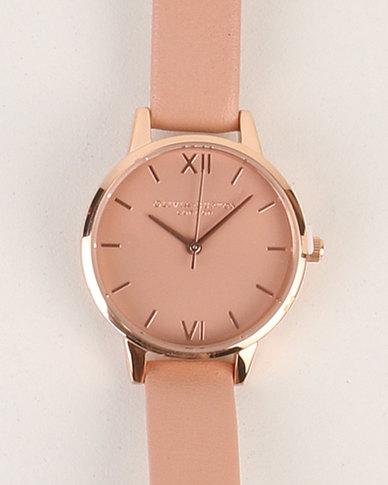 Olivia Burton Midi Dial Dusty Pink   Rose Gold Watch Pink  9ede5ecfbe