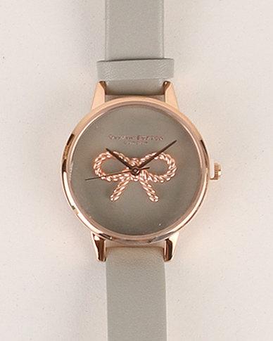 ffe4ca5c02a Olivia Burton Vintage Bow Grey and Rose Gold Watch Grey | Zando