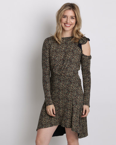 Amanda May The Ditsy Print Knit Dress Multi