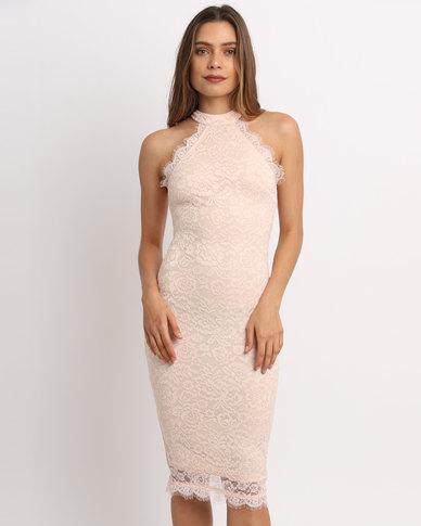 ed0084b222e8 Complete the look. AX Paris Hi Neck Lace Midi Dress ...