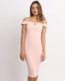 AX Paris Bardot Bodycon Pink