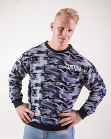 Custom Athletic Ice Camo Textured Jersey Grey