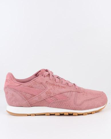 hot sale online 64de4 ef5e8 Reebok Classic Leather Clean Exotics Sneaker Pink   Zando