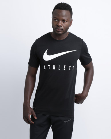 2bba1d0c7d Nike Performance Men s Nike Dry Training T-Shirt Black White