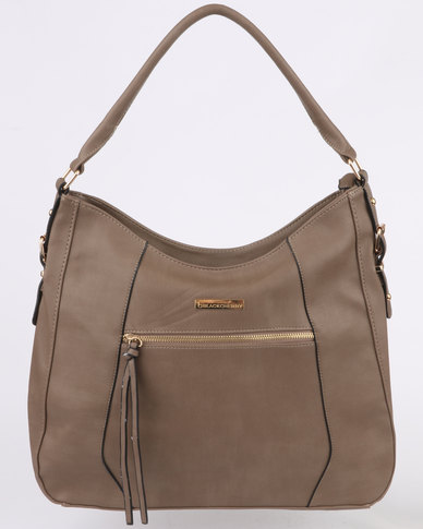 Blackcherry Bag Structured Tote Taupe  ee4f8676d2546