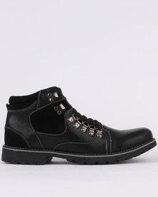 Pierre Cardin Casual Ankle Hiker Boot Black