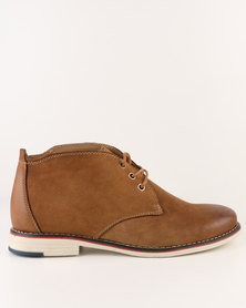 Utopia Leather Lace Up Boot Camel