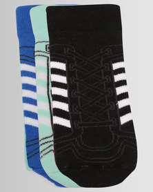 adidas 3 Pack Multi Socks Blue