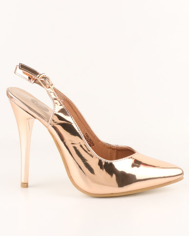 Court Rose Footwork High Shoe Kai Heel Slingback Gold 5A3Rj4Lq