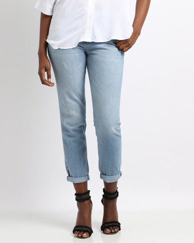 YAYA Denim Girlfriend Jeans Blue