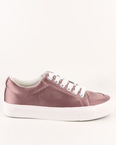 New Look Girls Mayes 2 Satin Lace Ups Pink