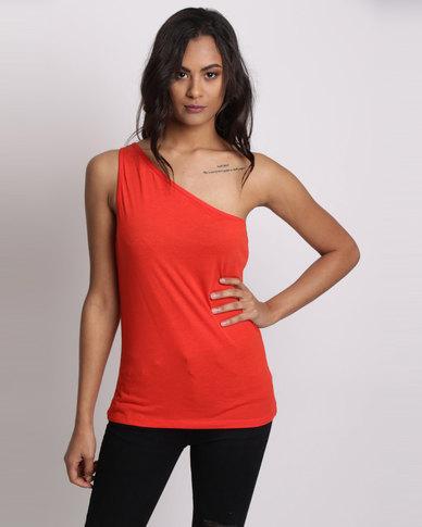 New Look Off The Shoulder Vest Burnt Orange