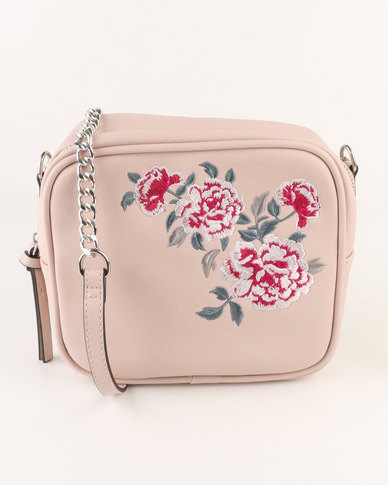 latest collection beautiful style distinctive style New Look Embroidered Crossbody Bag Oatmeal