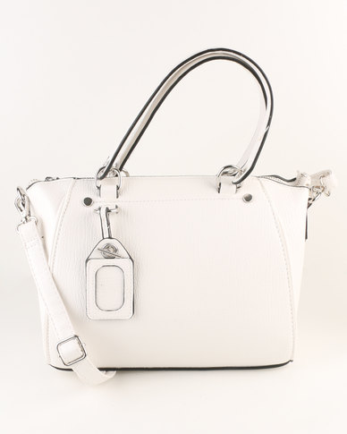 New Look Venus Mini Bowler Bag White