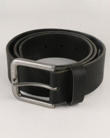 New Look Core Leather Denim Belt Black