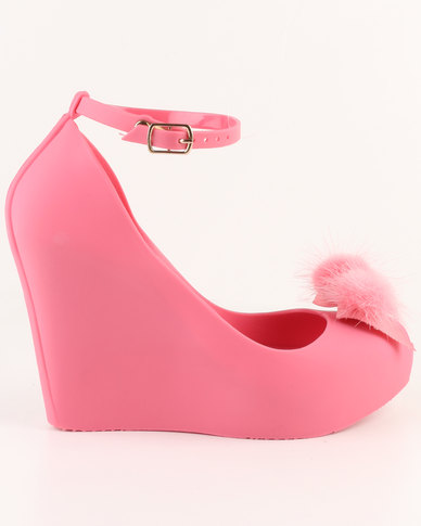 6b10bcd0c37 Urban Zone Peep Toe Wedges Pink