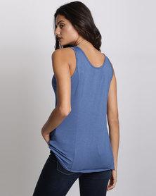 UB Creative Viscose Lycra Vest Blue