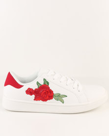 Madison Embroidered Sneaker White