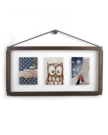 Corda Multi Photo Display Aged Wall Hanging