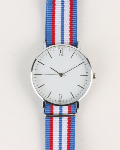 Digitime Nylon Stripe Watch Multi