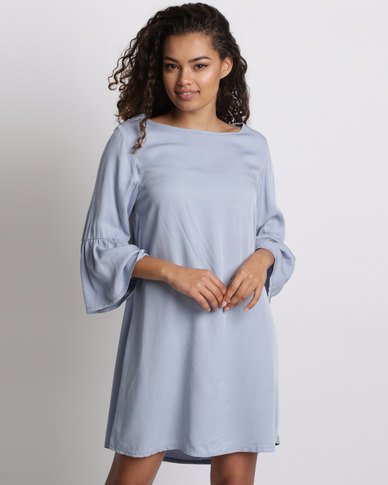 6bdd1898e2b Utopia Tunic Dress With Bell Sleeve Powder Blue