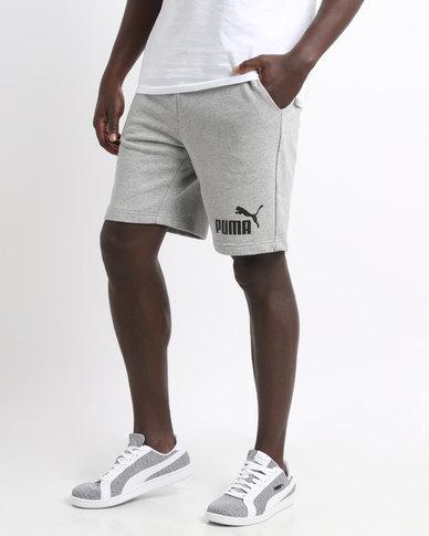 0f215925d50e Puma Essential No.1 Sweat Shorts 9 Grey