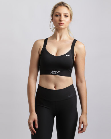 3dbd6ca214 Nike Performance Pro Indy Logo Back Bra Black
