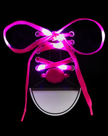 Rock & Co Lazer Light Up Laces Pink