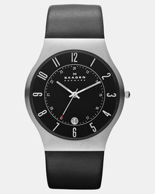 Skagen Grenen Leather Watch Black
